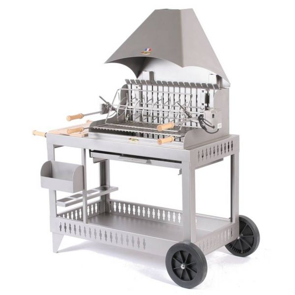 Le mod le isturits inox avec chariot le barbecue charbon for Le marquier plancha inox