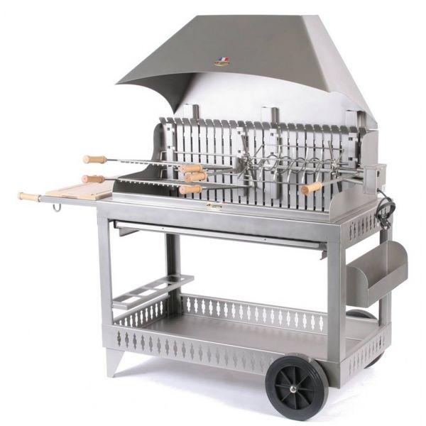 Hotte De Cuisine Charbon De Bois : charbon & bois > Barbecue charbon Le Marquier Etchalar inox, hotte