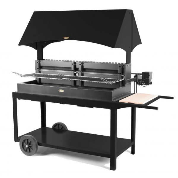 Le mod le mechoui acier avec desserte le barbecue charbon - Barbecue charbon et plancha ...