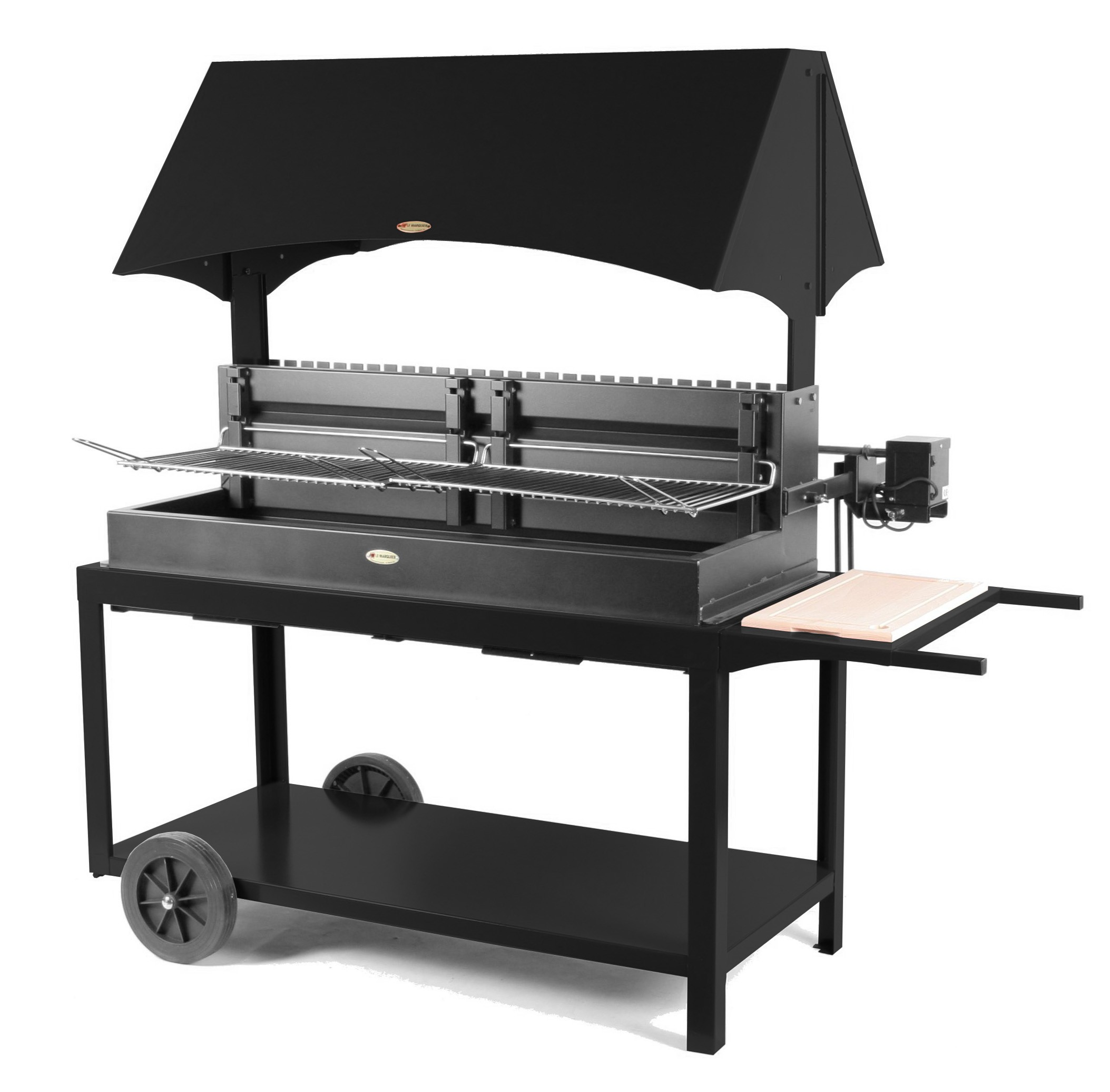 Barbecue charbon tourne broche - Tourne broche barbecue ...