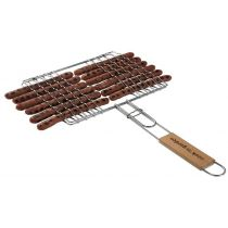 Grille barbecue 12 saucisses 27x23 cm