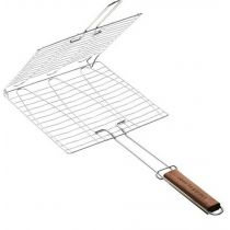 Grille barbecue 3 poissons 30x28 cm