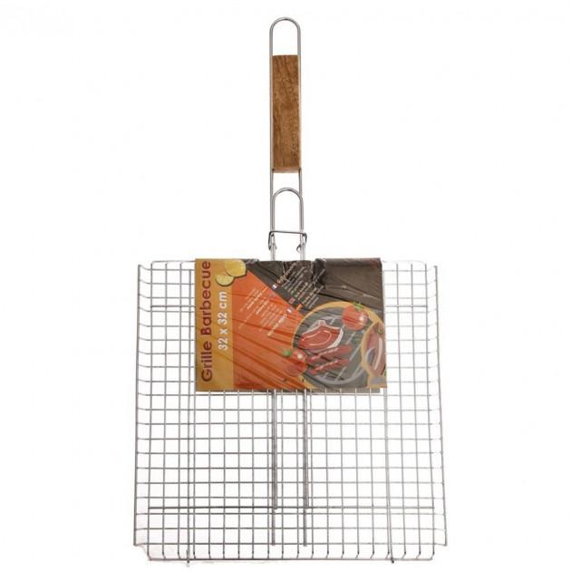 grille barbecue double carree 32x32 cm accessoire barbecue pratique. Black Bedroom Furniture Sets. Home Design Ideas
