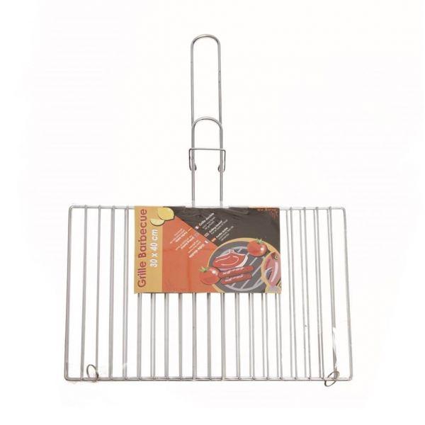 grille barbecue double rect30x40 cm un accessoire barbecue pratique. Black Bedroom Furniture Sets. Home Design Ideas