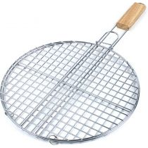 Grille barbecue double ronde diametre 38cm