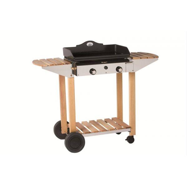 la desserte compos e de bois et inox pour plancha prestige 600 forge adour. Black Bedroom Furniture Sets. Home Design Ideas