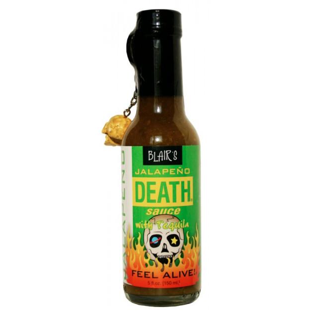Sauce piquante Blair's Jalapeno death avec tequila