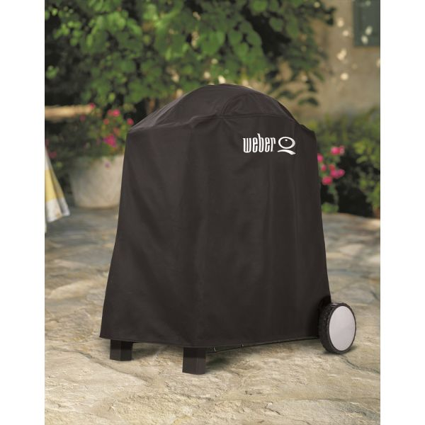 Housse barbecue weber q1000 q2000 sur chariot for Housse barbecue