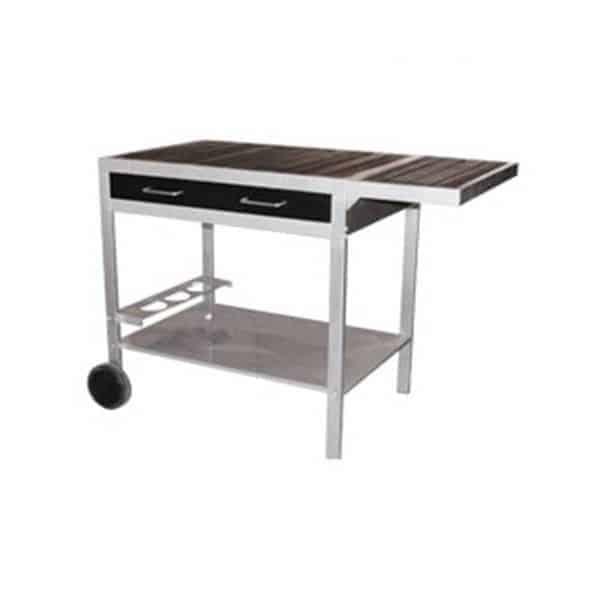 desserte plancha noir et metal bari. Black Bedroom Furniture Sets. Home Design Ideas