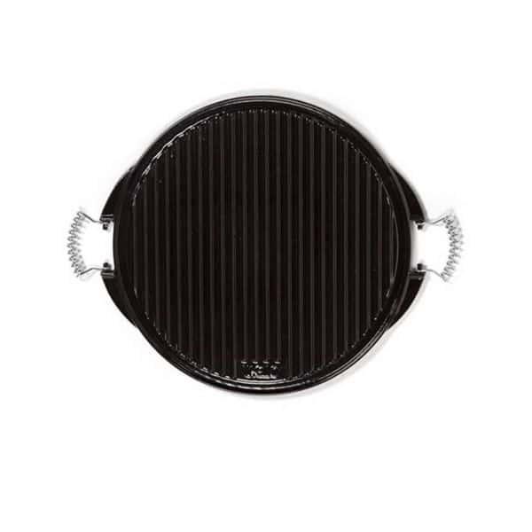 plancha pour barbecue fonte maill e double face vaello 43 cm. Black Bedroom Furniture Sets. Home Design Ideas