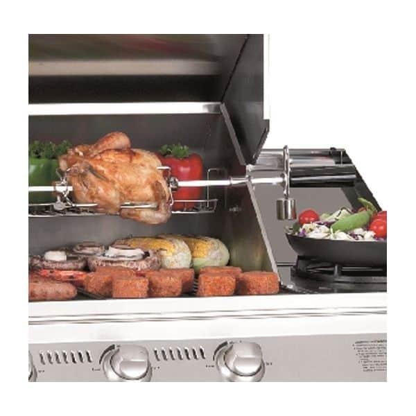 Rotissoire barbecue gaz beefeater 5 feux - Barbecue gaz avec rotissoire ...