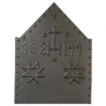 Plaque fonte Croisés 80 X 105 cm