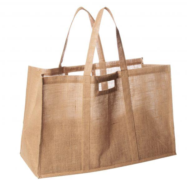 sac porte buches toile naturelle accessoire cheminee et barbecue. Black Bedroom Furniture Sets. Home Design Ideas