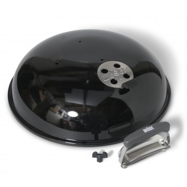 Couvercle noir intense pour barbecue charbon 47 cm