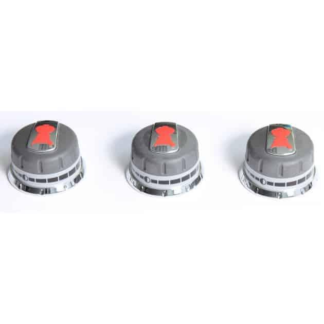 Lot de 3 boutons barbecue gaz Weber Genesis 300 (boutons façade)