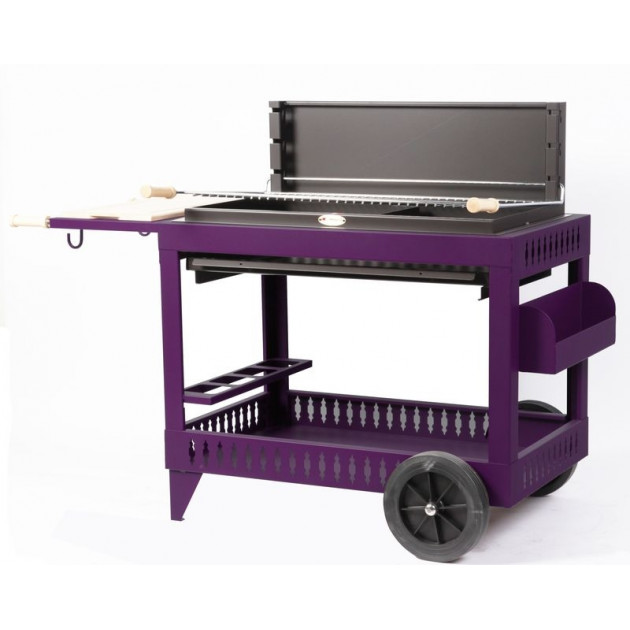 Barbecue charbon Le Marquier Iholdy sur chariot
