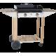 Plancha gaz Forge Adour Prestige 600 avec chariot Bois/Inox