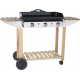 Plancha Forge Adour Prestige 750 + chariot Bois/Inox
