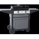 Plancha gaz Forge Adour Prestige 600 + chariot acier fermé