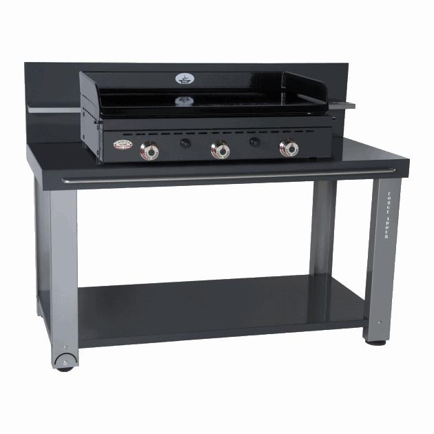 La table roulante cr dence un mod le en fer pour planchas 750 forge adour - Table roulante pour plancha ...