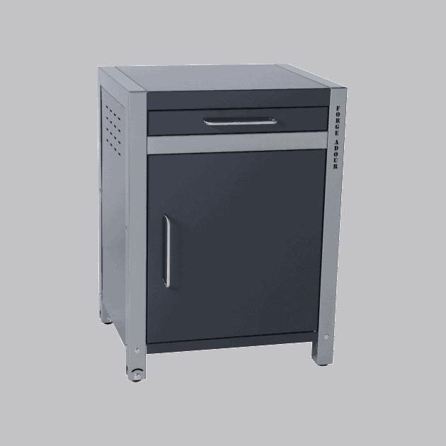 Desserte-module fer fermé pour plancha Forge Adour