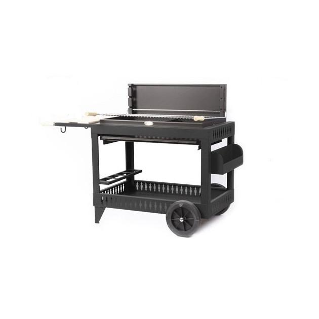 le mod le iholdy anthracite avec chariot le barbecue charbon de bois le marquier. Black Bedroom Furniture Sets. Home Design Ideas