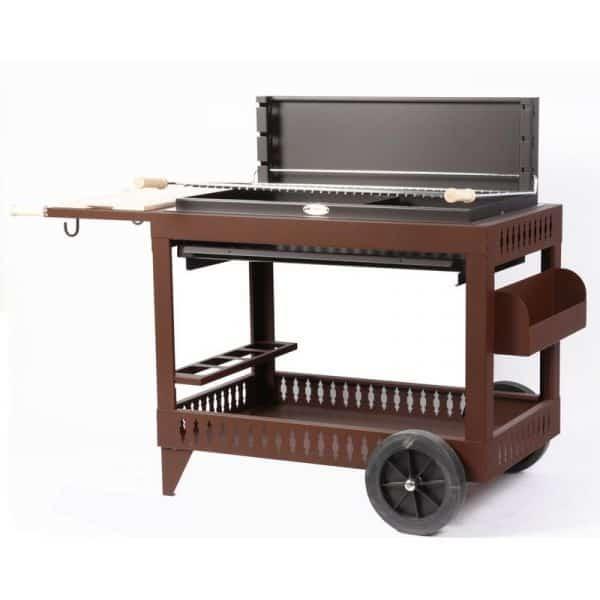 le mod le iholdy chocolat avec chariot le barbecue charbon de bois le marquier. Black Bedroom Furniture Sets. Home Design Ideas