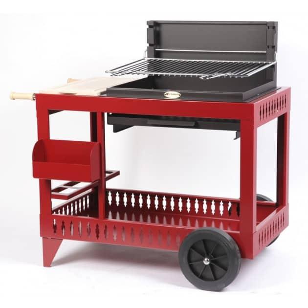 Barbecue charbon de bois Le Marquier Montory rouge
