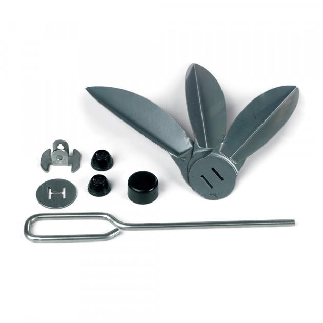 Kit systeme de nettoyage en inox pour barbecues 47 cm