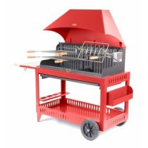 Barbecue charbon Le Marquier Etchalar, hotte rouge