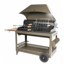 Barbecue charbon Le Marquier Etchalar, hotte taupe