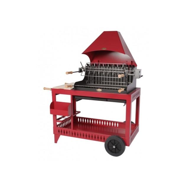 Barbecue charbon de bois Le Marquier Isturitz rouge