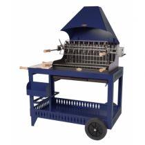 Barbecue charbon de bois Le Marquier Isturitz bleu klein