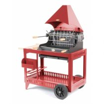 Barbecue charbon de bois Le Marquier Mendy rouge