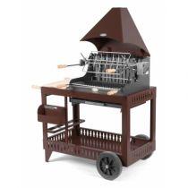 Barbecue charbon de bois Le Marquier Mendy chocolat