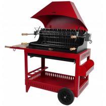 Barbecue charbon de bois Le Marquier Irissary rouge