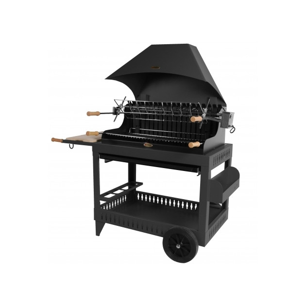 barbecue charbon le marquier irouleguy sur chariot hotte. Black Bedroom Furniture Sets. Home Design Ideas