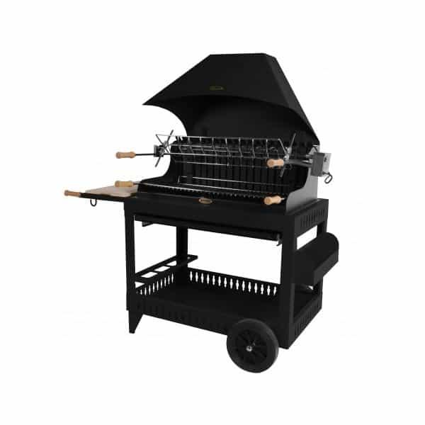 le mod le irissary noir avec chariot le barbecue charbon. Black Bedroom Furniture Sets. Home Design Ideas