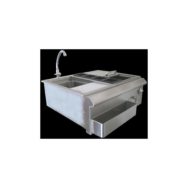 Combo robinet Beefeater avec multibac en inox