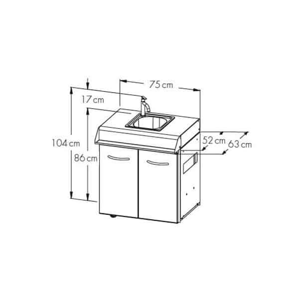 Module avec evier et robinet napoleon pour le lex for Module exterieur