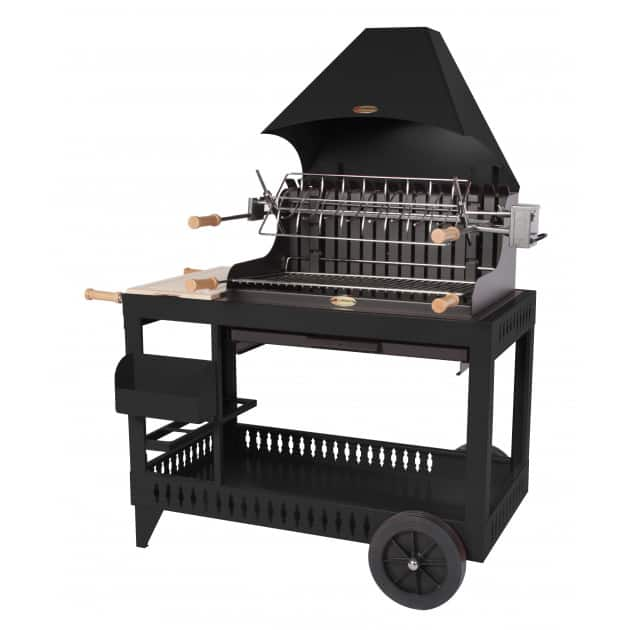 le mod le mendy noir avec chariot le barbecue charbon de bois le marquier. Black Bedroom Furniture Sets. Home Design Ideas