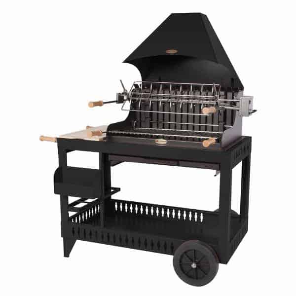 le mod le mendy noir avec chariot le barbecue charbon de bois le marquier. Black Bedroom Furniture Sets. Home Design Ideas
