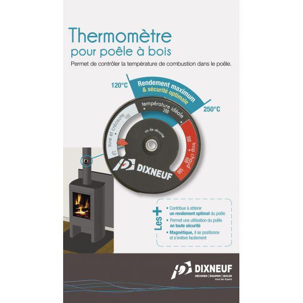 thermometre magnetique dixneuf pour poele a bois et cheminee. Black Bedroom Furniture Sets. Home Design Ideas