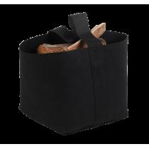 Panier à bûches DixNeuf Trendy en feutre noir & noir