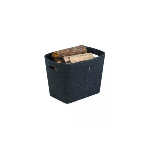 panier a buches granules dixneuf felt en feutre gris. Black Bedroom Furniture Sets. Home Design Ideas