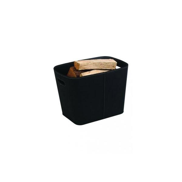 Panier a buches granules dixneuf felt en feutre noir pour cheminee - Panier a buches design ...