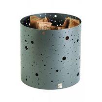 Corbeille à bois DIXNEUF Voie lactée gris acier 40 X 40 cm