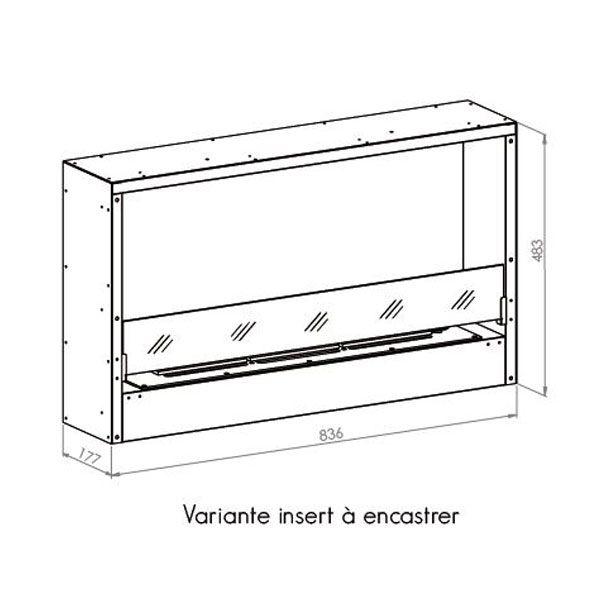 Cheminee a l 39 ethanol ignisial h f 700 cadre noir cheminee moderne - Cheminee ethanol ignisial ...