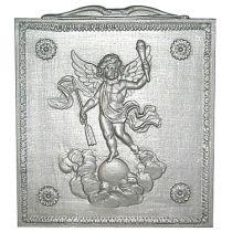 Plaque fonte Amour eclairant le monde 35 x 40 cm