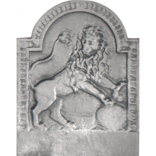 Plaque fonte Le Lion 36 x 47 cm